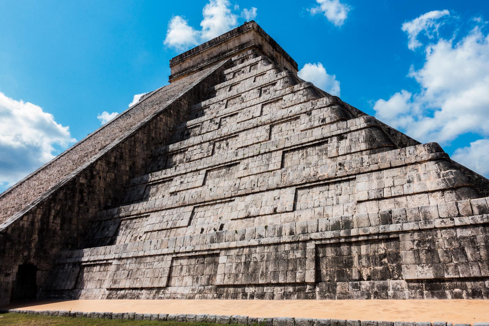 Chichen Itza temples in Cancun, Mexico