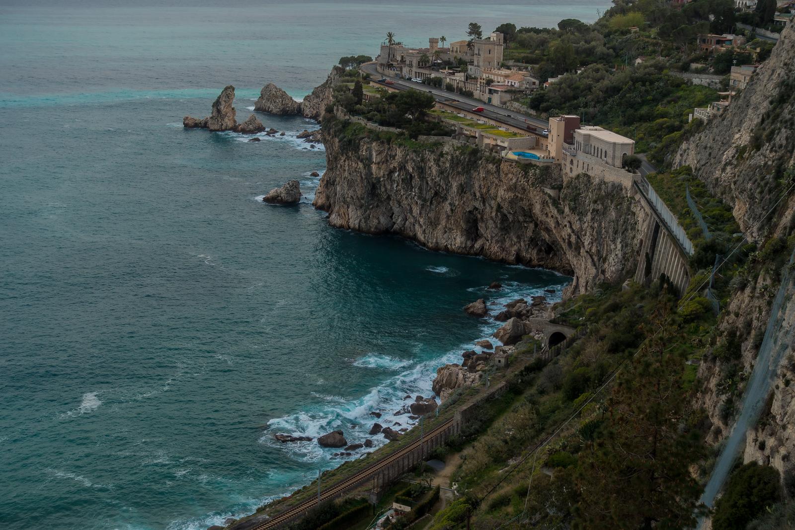 Hilly Taormina Coastline, Cicily