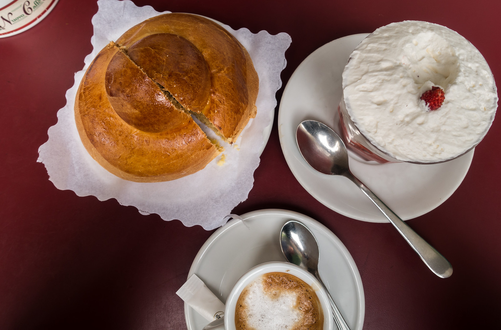 Sicilian semi-frozen dessert the Granita, Sicily